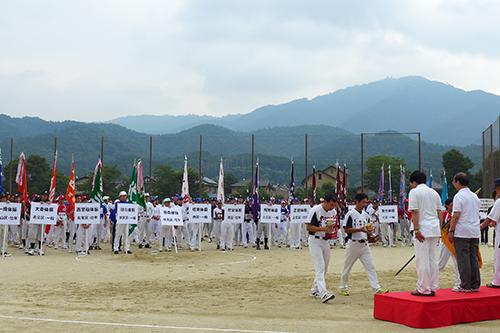 各区から代表チームの皆さんが大活躍 京都市ソフトボール大会 開会式