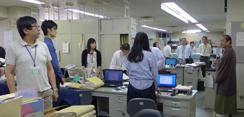 西京区役所・洛西支所を激励訪問